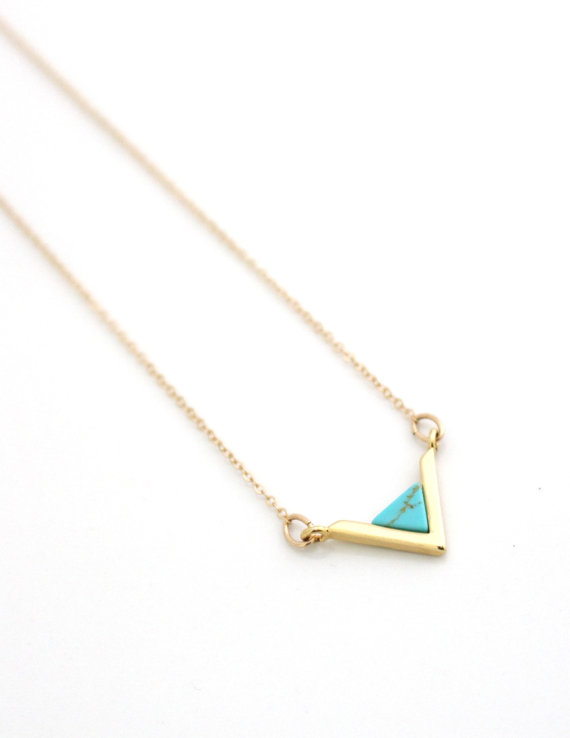 Gold Turquoise Necklace Arrow.jpg