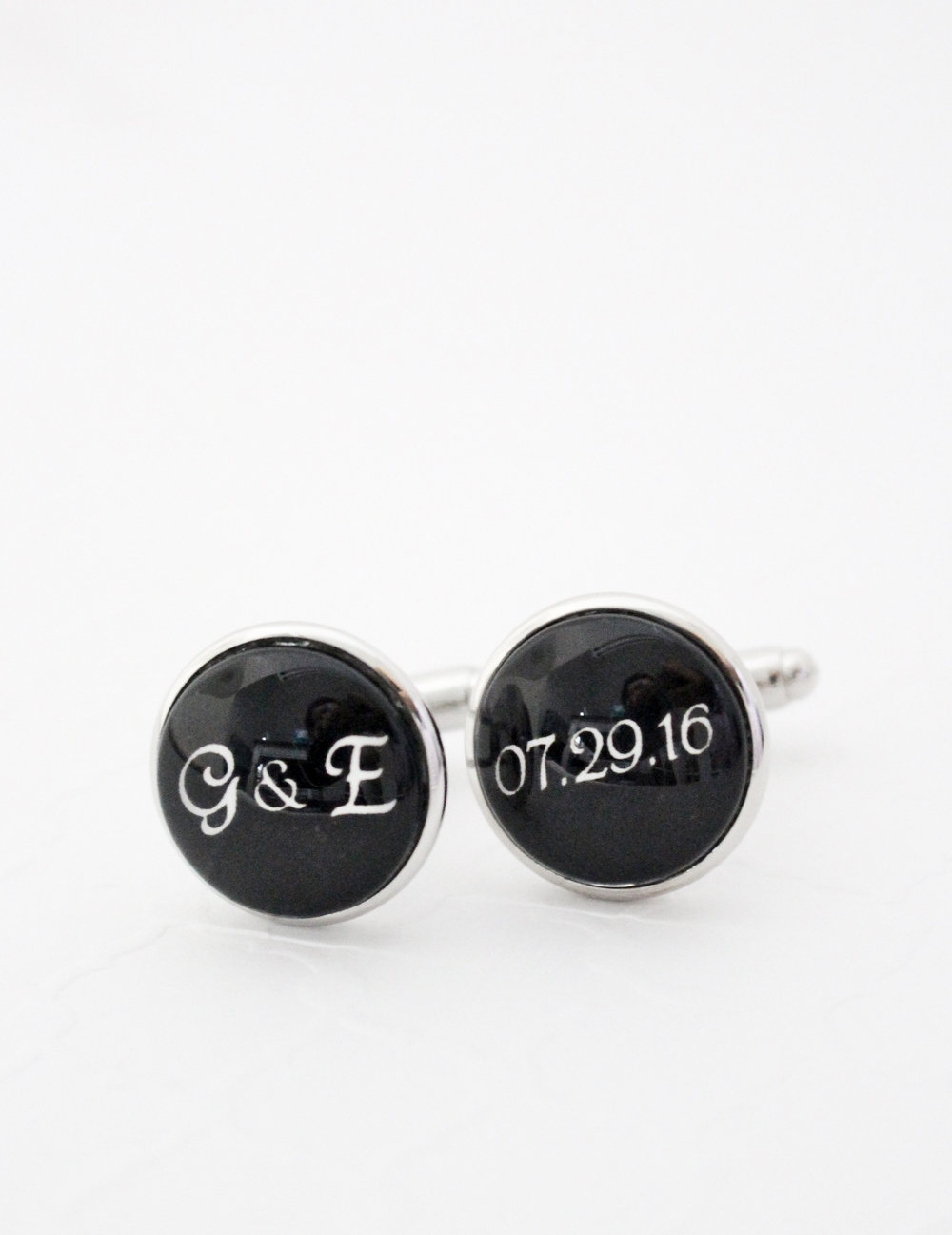 Anniversary Gift for Him Cufflinks with wedding date.jpg