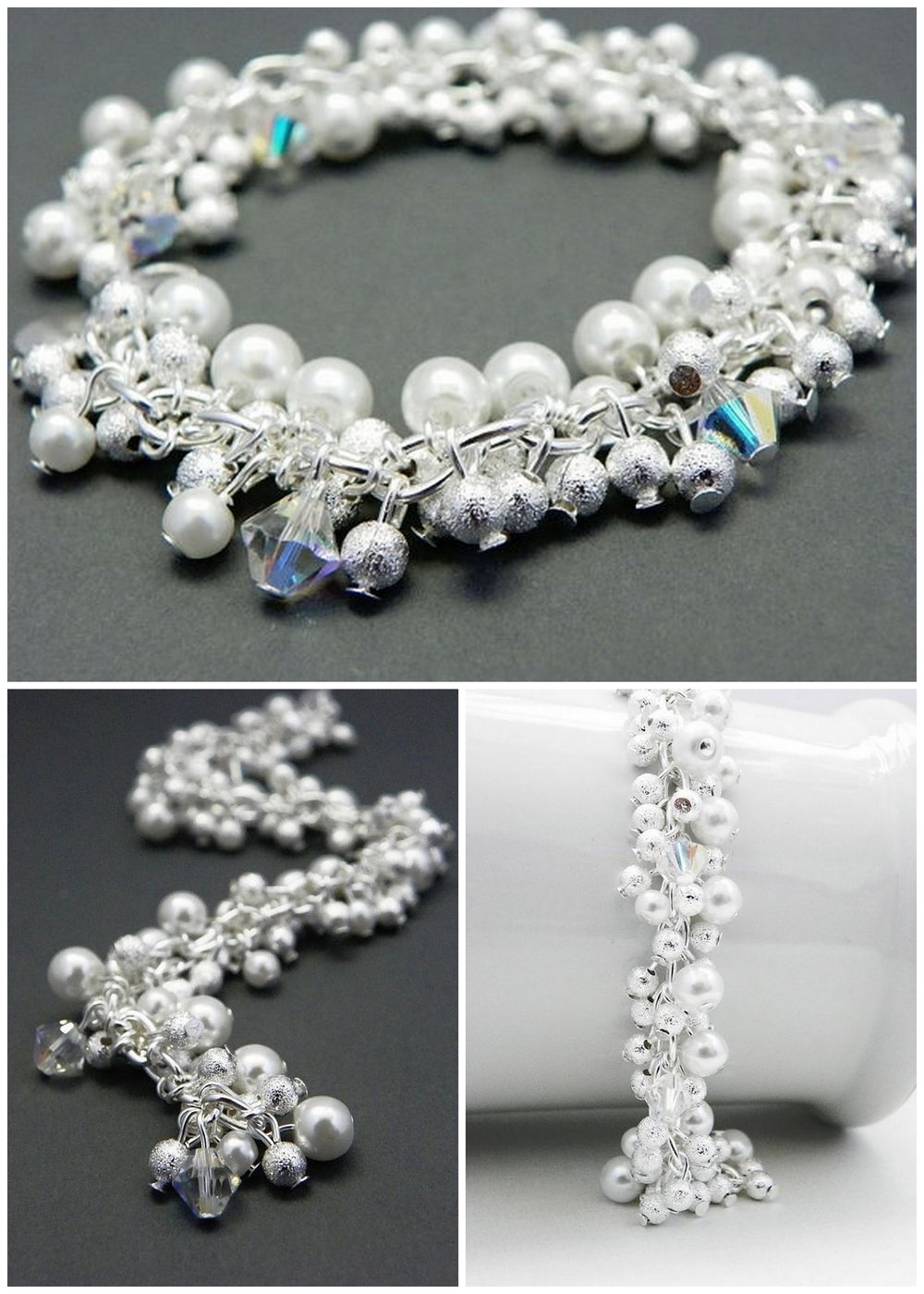 Pearl Bracelet - Bridesmaid Gift - Bridesmaid Jewelry