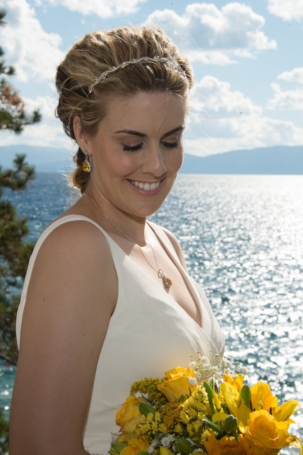 Yellow Bridal Jewelry - Swarovski Wedding Jewelry
