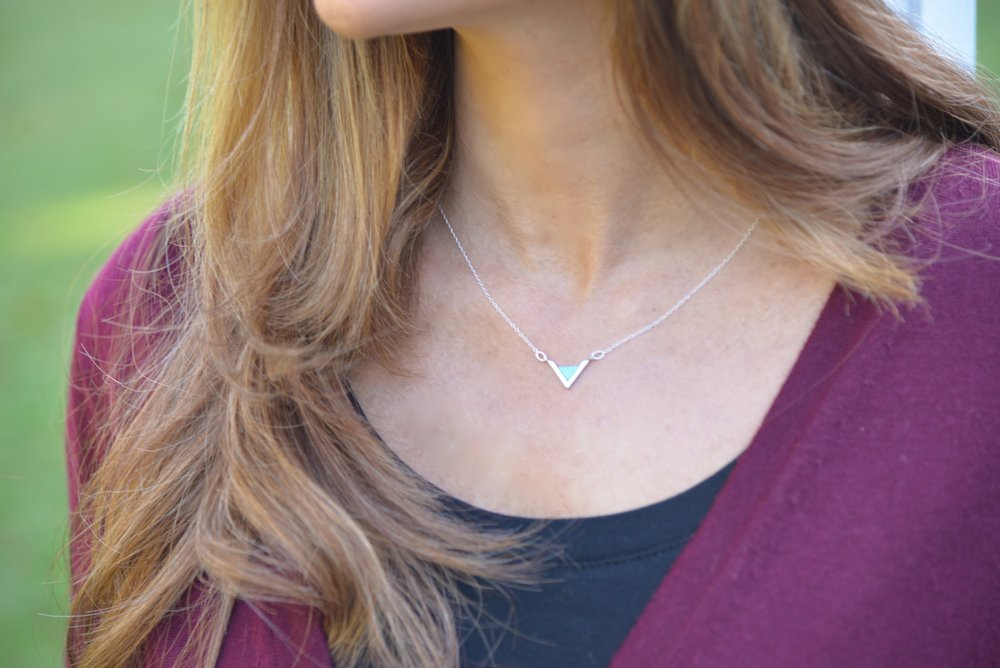 Trendy Jewelry - Tiny Triangle Necklace