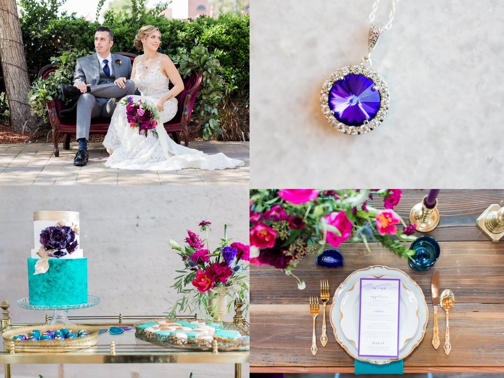 Purple Swarovski Necklace - Jewel Toned Wedding