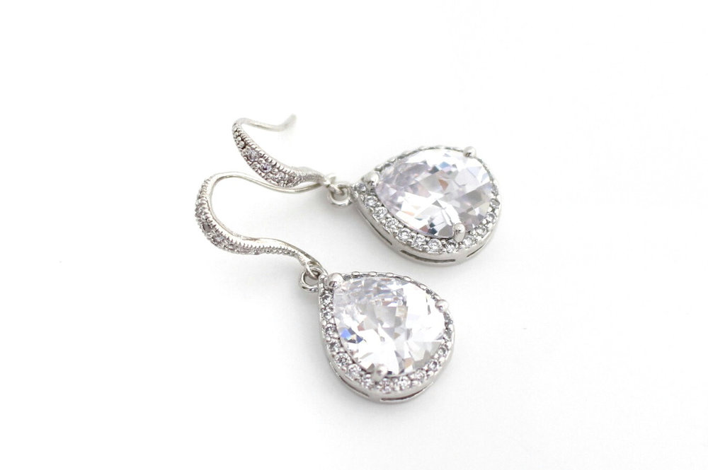 Bridesmaid Earrings - Cubic Zirconia Earrings