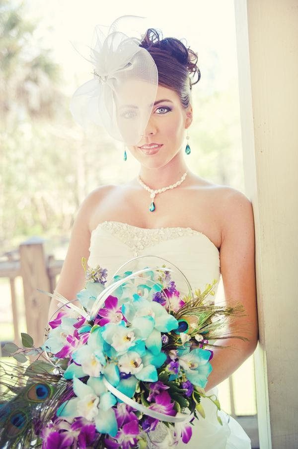 Peaock Bridal Jewelry - Peacock Inspired Wedding