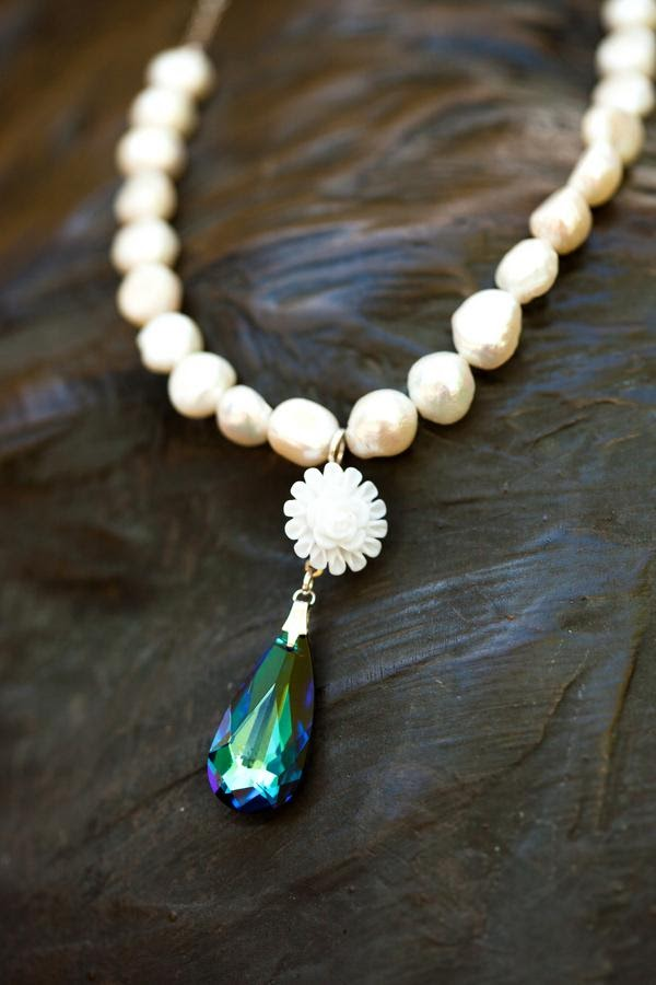 Peacock Necklace - Bridal Necklace