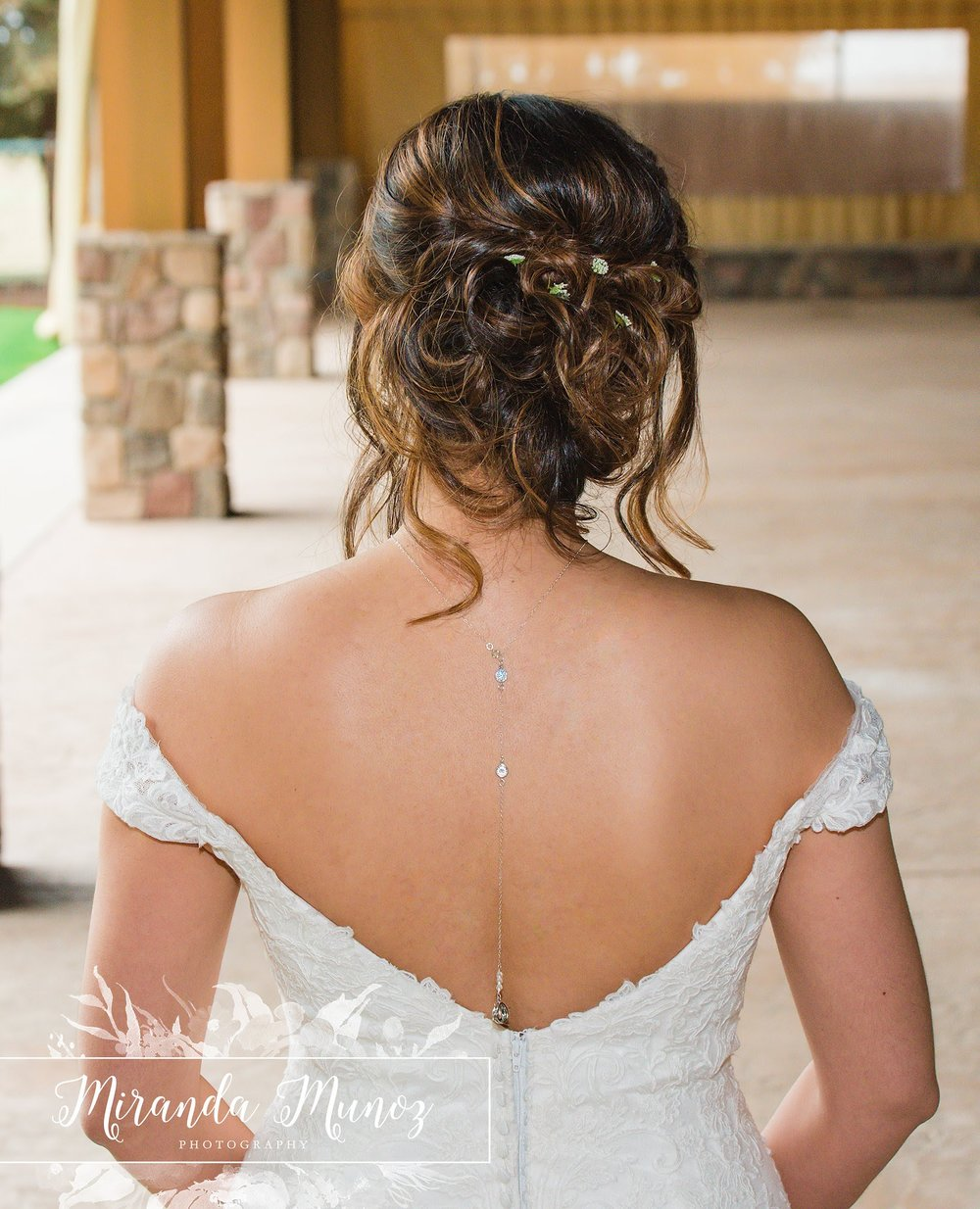 Back Drop Necklace - Bridal Necklace