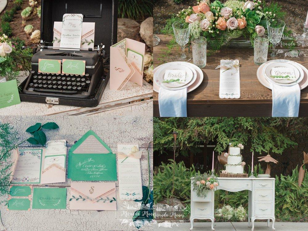 Boho Wedding - Peach and Green Wedding