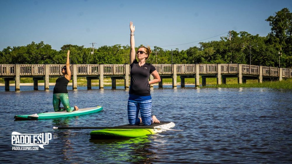 Stand up Paddleboard Yoga(SUPYoga)Paddles Up Ocean Springs - 1018 Government St. (0.5 miles, 12 min. walk)This unique yoga class is provided by Paddles Up Ocean Springs which offers kayak and paddleboard rentals as well as a skate & surf shop complete with activewear. Experience yoga bliss atop your board as you are guided by trained teachers and take in the beauty of the natural surroundings. All levels are welcome! No yoga or paddle boarding experience required. Visit their website to see when the next SUP Yoga class is available!