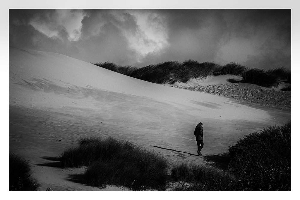 Man in Dunes B&W.jpg