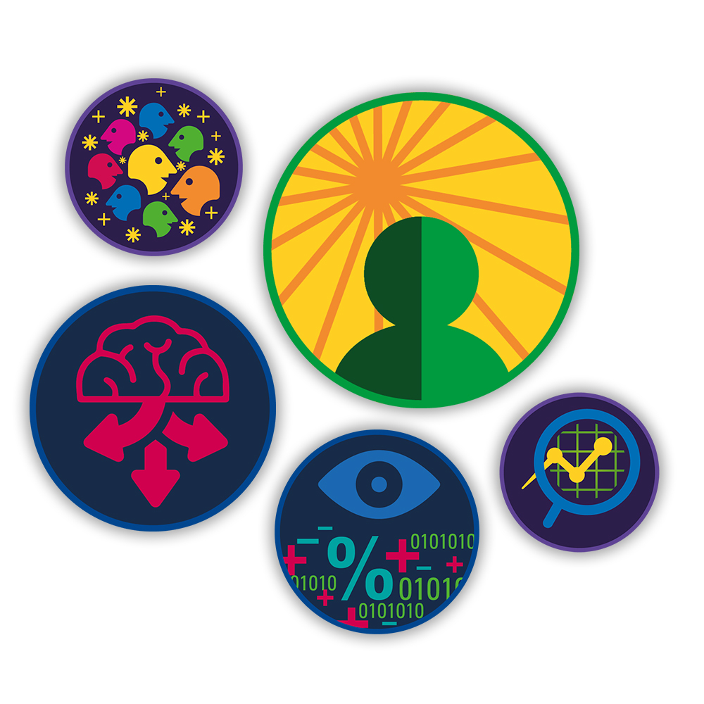 Leveraging Gamification - To get employees to actively post and share their daily Story-worthy experience we designed special badges for each part of the story and inspire employees to collect as many badges as possible.