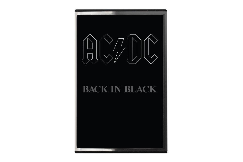 AC/DC Back in Black cassette