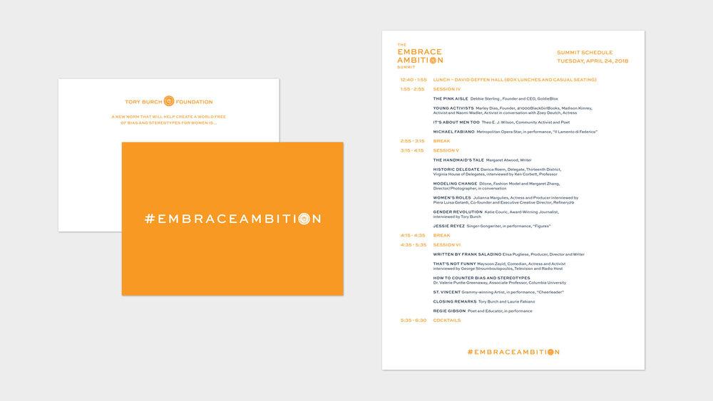 Summit Schedule and Postcard