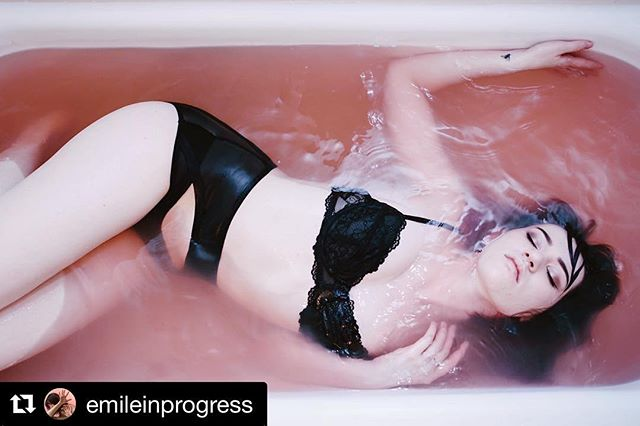 "In love 💕 thanks for wearing and sharing!  #Repost @emileinprogress with @repostapp ・・・ ""A poet's freedom lies precisely in the impossibility of worldly success. It is the freedom of one who knows he will never be anything but a failure in the world's estimation, and may do as he pleases. The poet is a man on the sidelines of life, sidelined for life. He belongs to the aristocracy of the outcast, the lowest of the low, below the salt of the earth. A member of the most ancient regime in the world.  One that cannot, it seems, be overthrown."" (Walter Martin)  #salt #bath #dollarbathbombs #pink #mood #filkinslingerie"