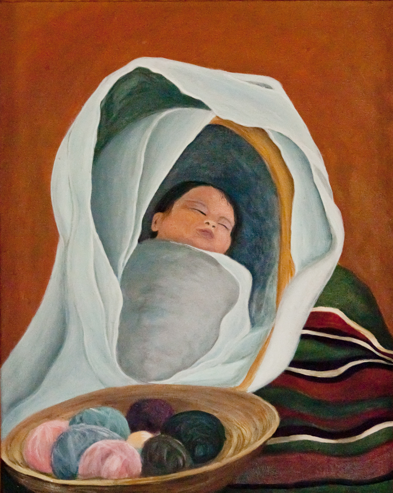 Weaver's Child, Acrylic on Canvas