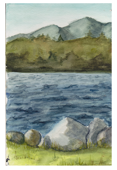 Lakeside Watercolor
