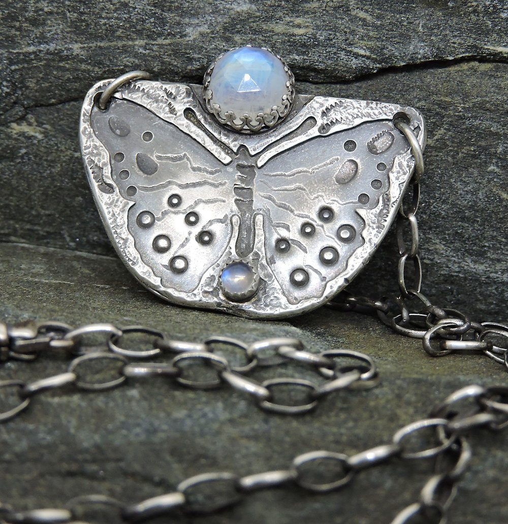 Butterfly Necklace with Moonstone (sold)