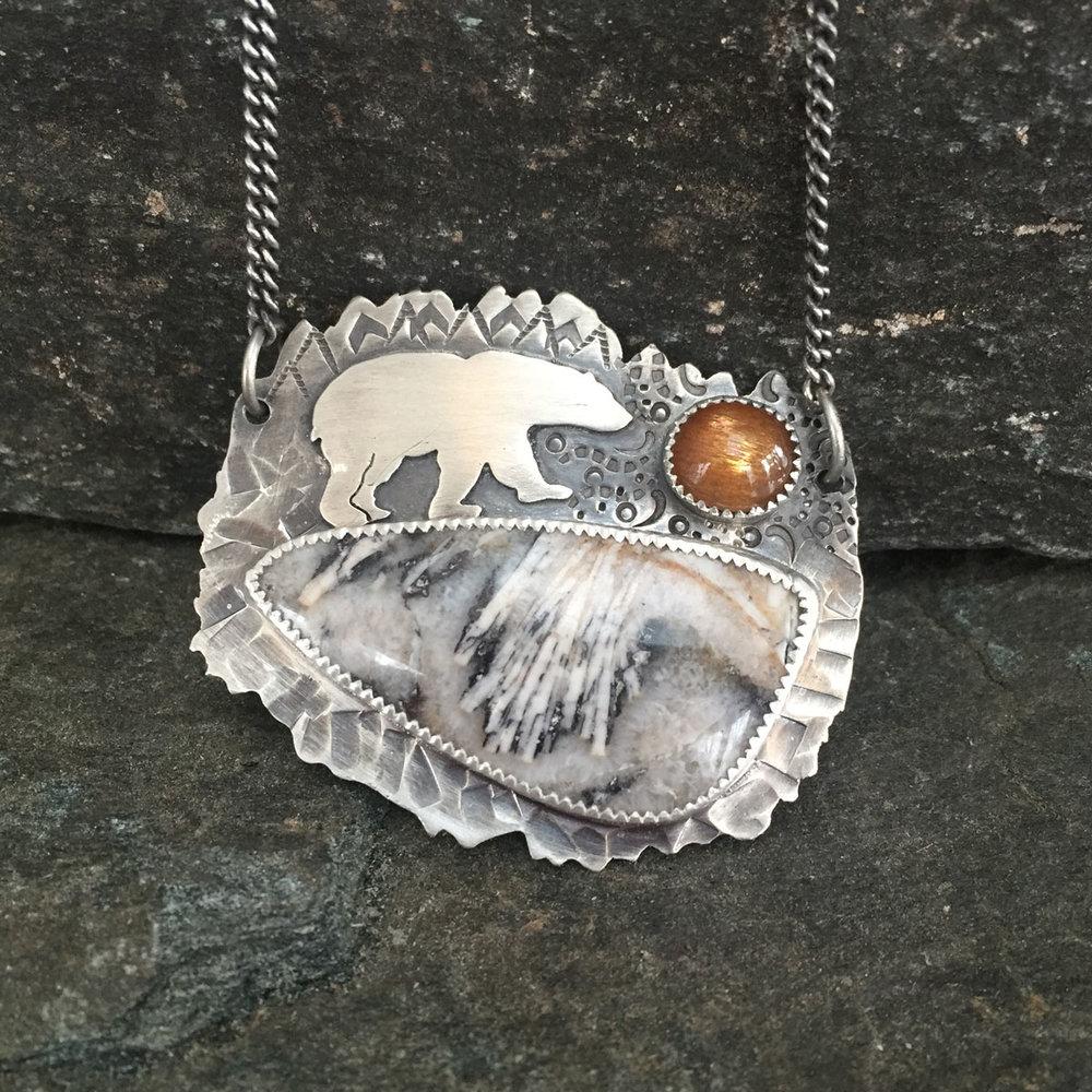 Polar Bear Necklace (Sold)