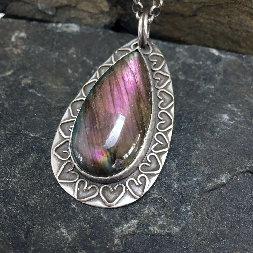 Purple Passion Necklace with Labradorite  (Sold)