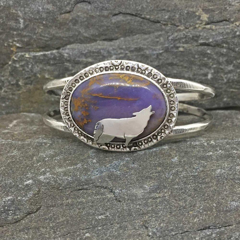 Wolf Cuff with Burro Creek Jasper (Sold)