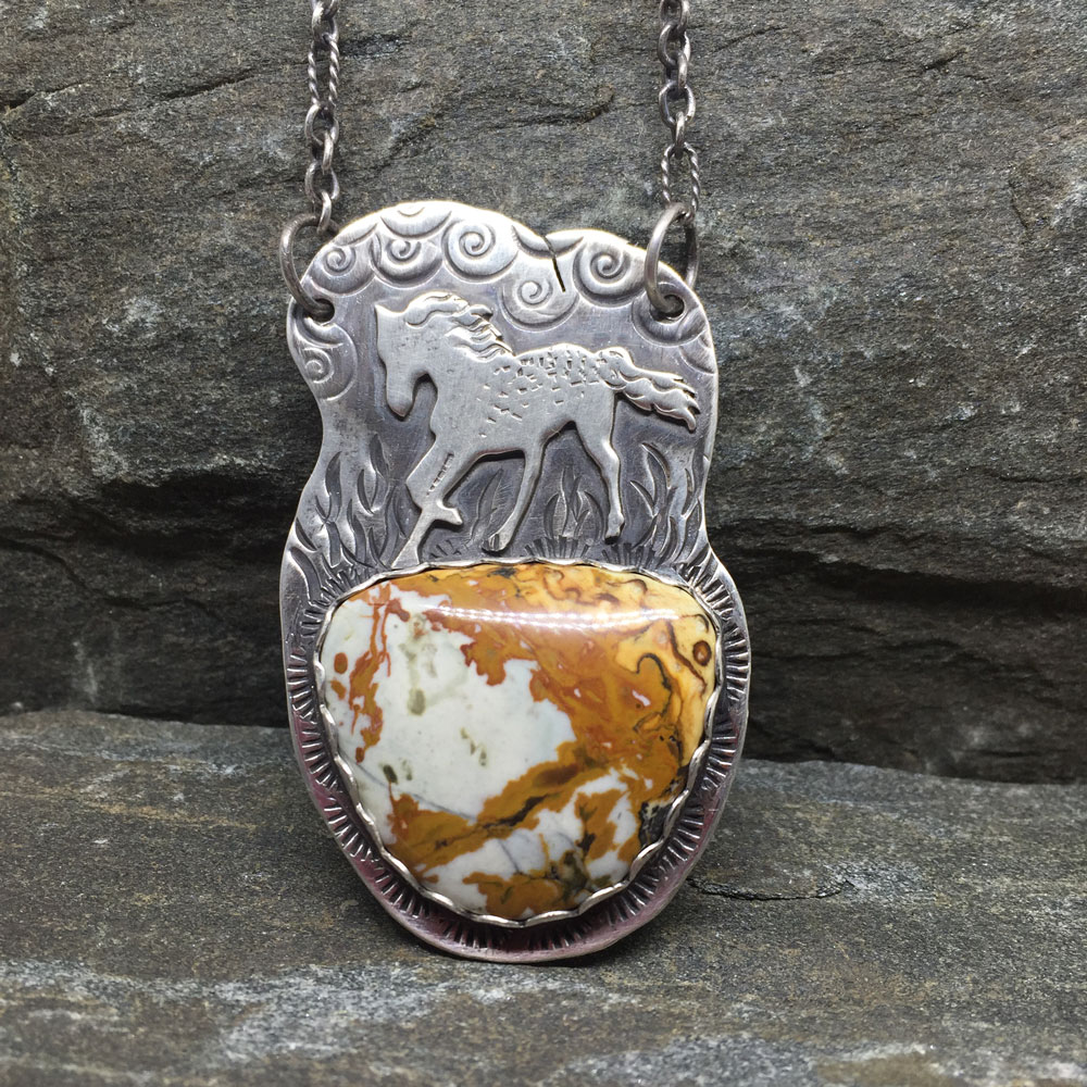 Wild Horse Necklace with Jasper (Sold)