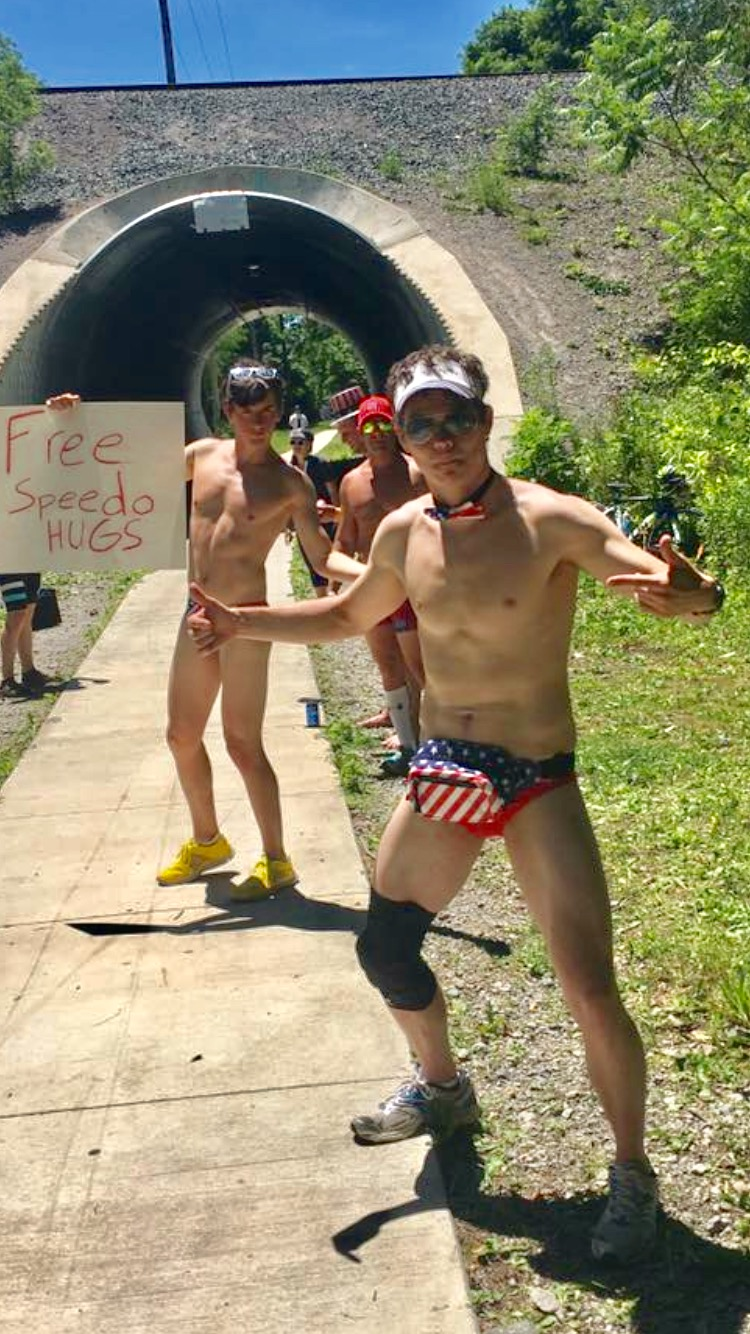 Doug Votaw - Im a distance runner trying to run a couple fast races a year.  Heterosexual, 5'11, white male.  Crew Racing is family, friendly fun.  Speedo enthusiast. Co-founder of Earth Yoga.