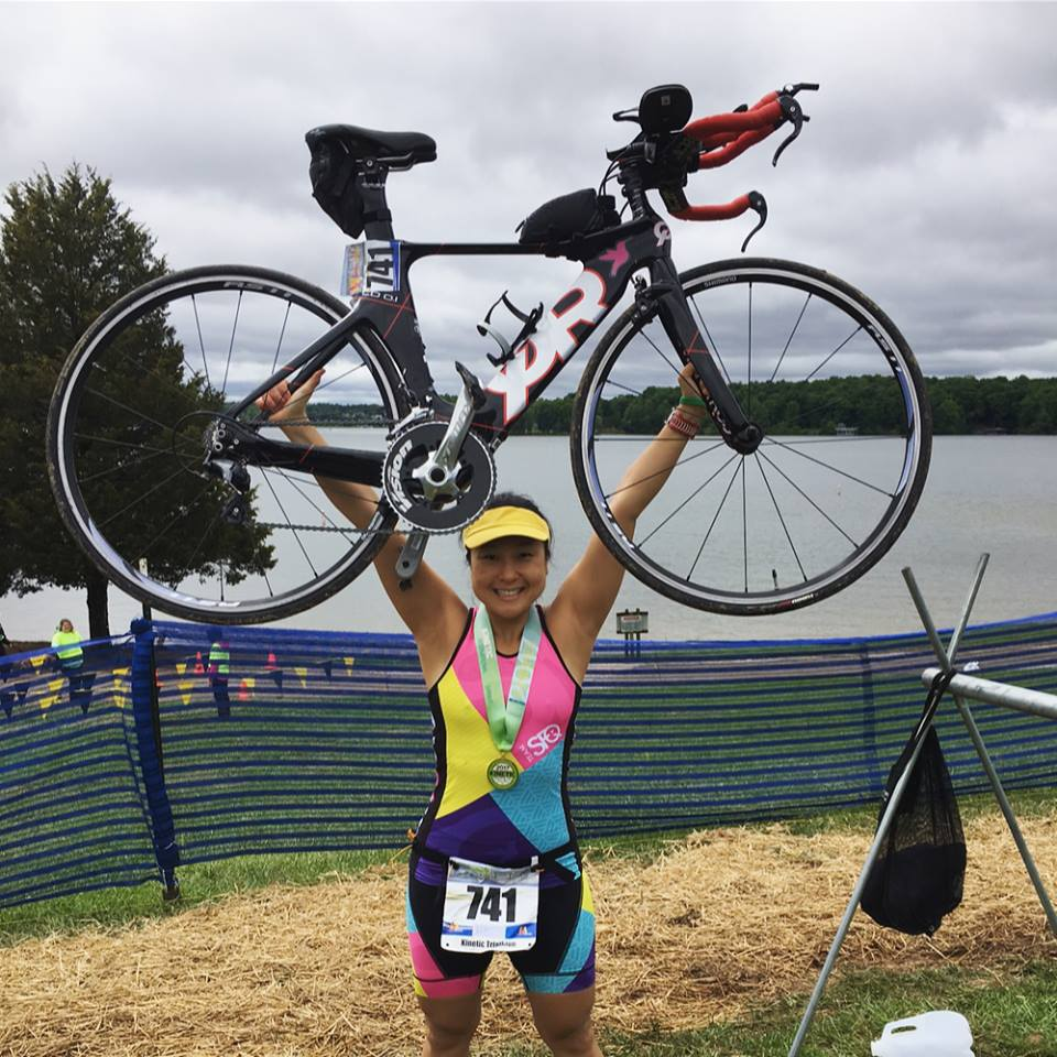 Nicole Yoon - Why tri? I grew up swimming competitively, and biked a lot. I just hated distance running. I figured it was something a little challenging that I can do, but didn't realize I would be hooked! Definitely learned a lot of life lessons in this tri journey.Why Crew Racing? Because I'm not
