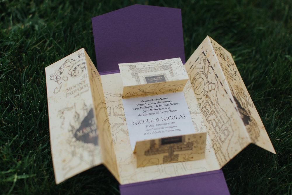 crave-design.com | andreazajonc.com | Harry Potter Wedding | Custom Wedding Stationery | Wedding Invitation suite