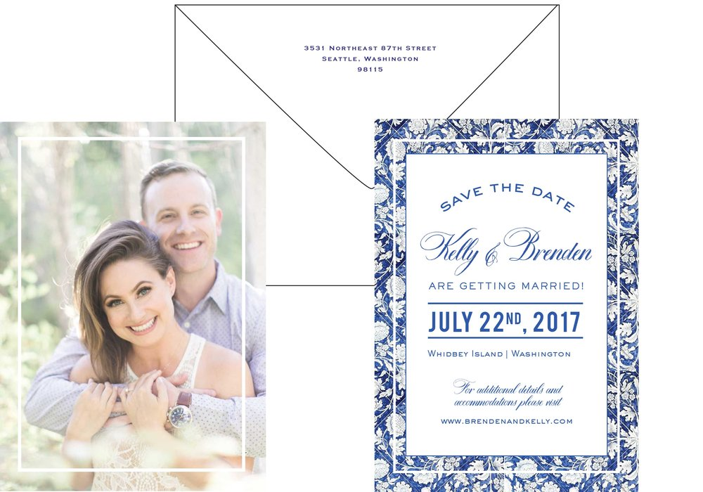Crave Design | cobalt blue | classic chic | save the date
