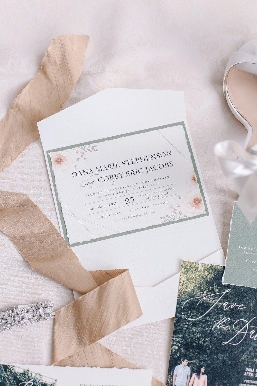 crave-design.com   spottedstills.com   Floral Textured Wedding   Custom Wedding Stationery   Wedding Invitation suite