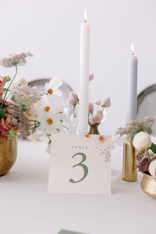 crave-design.com   spottedstills.com   Floral Textured Wedding   Custom Wedding Stationery   Wedding Invitation suite   Table Number