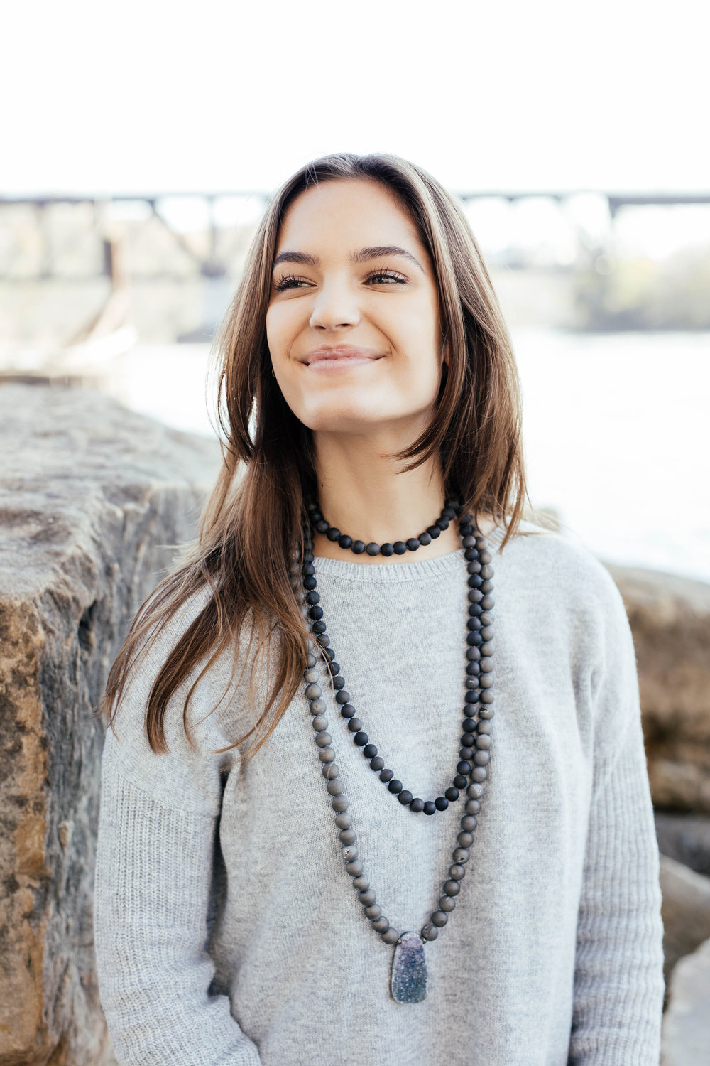 VALENTINE/GALENTINE: Layer a chunky statement necklace over your cozy sweater for another easy look that's less festive and more girly. This is casual enough to wear to school or work and can easily transition into a date night look or a Galentine's dinner.