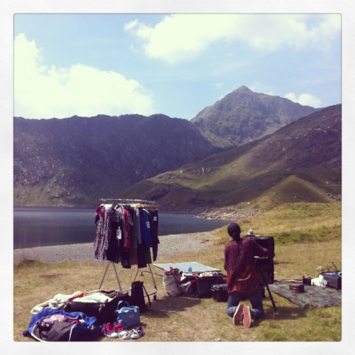 This picture was taken in Snowdonia, on a shoot for Crew Clothing Co. I love that this can be my office for the day!