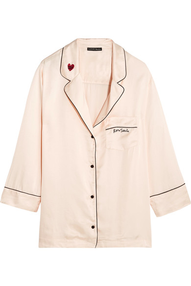 Silk PJ shirt, £90, Love Stories at Net-a-Porter