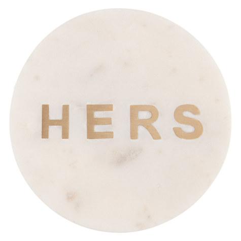 'Hers' coaster, £8, John Lewis