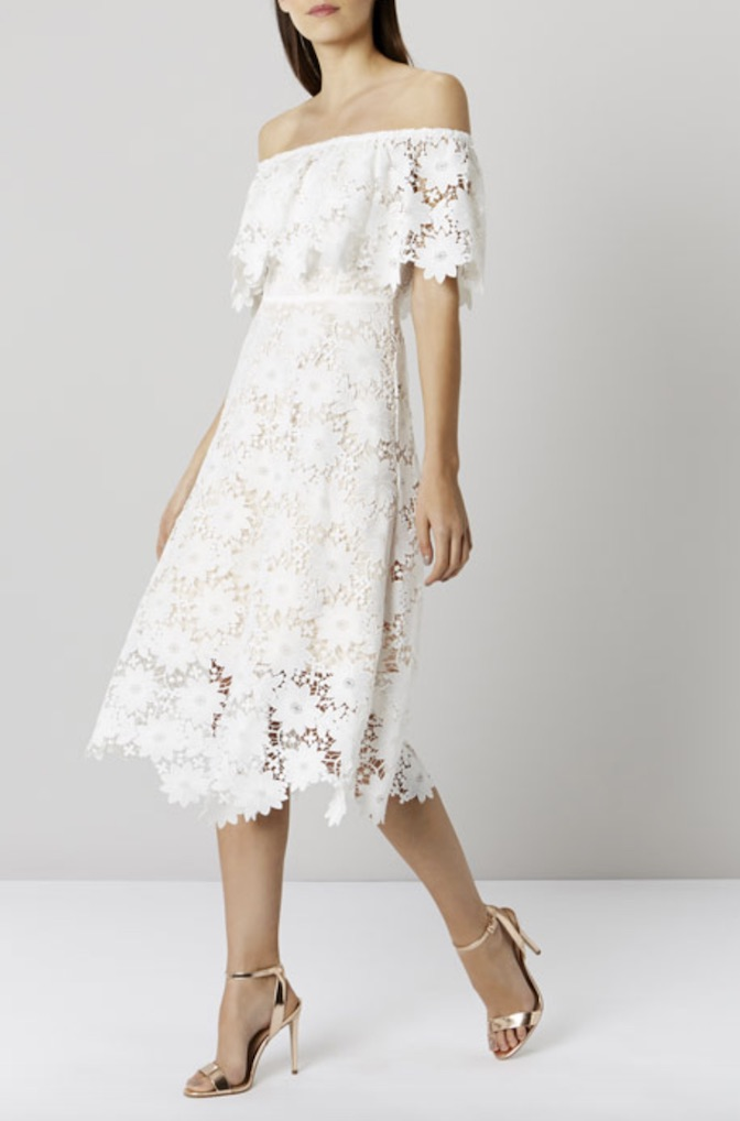Lace bardot, £159, Coast