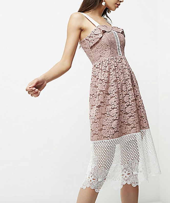 Pink lace, £80, River Island