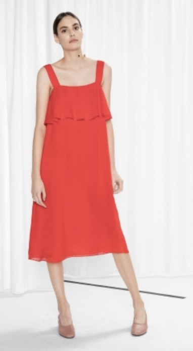 Red dress, £79, &Other Stories