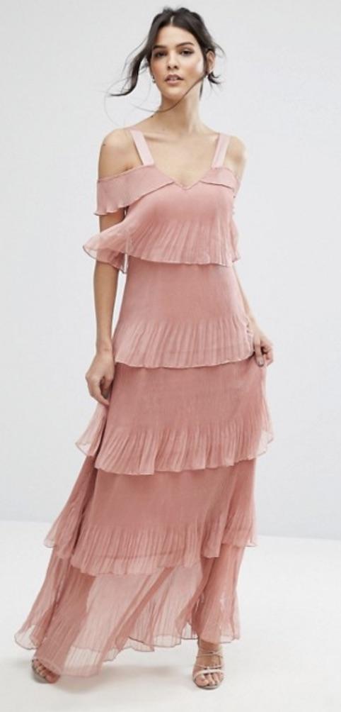 Pink Ruffle Maxi, £85, True Decadence