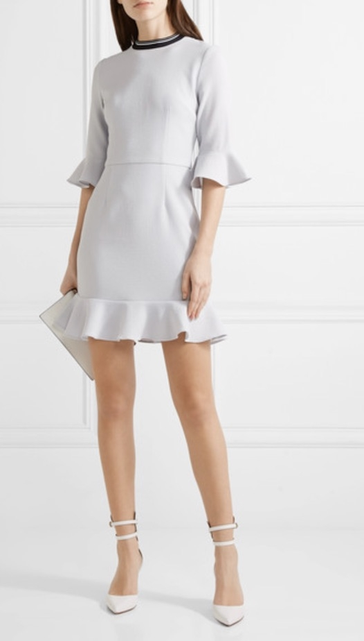 Frill sleeve, £250, Rebecca Vallance at Net a Porter