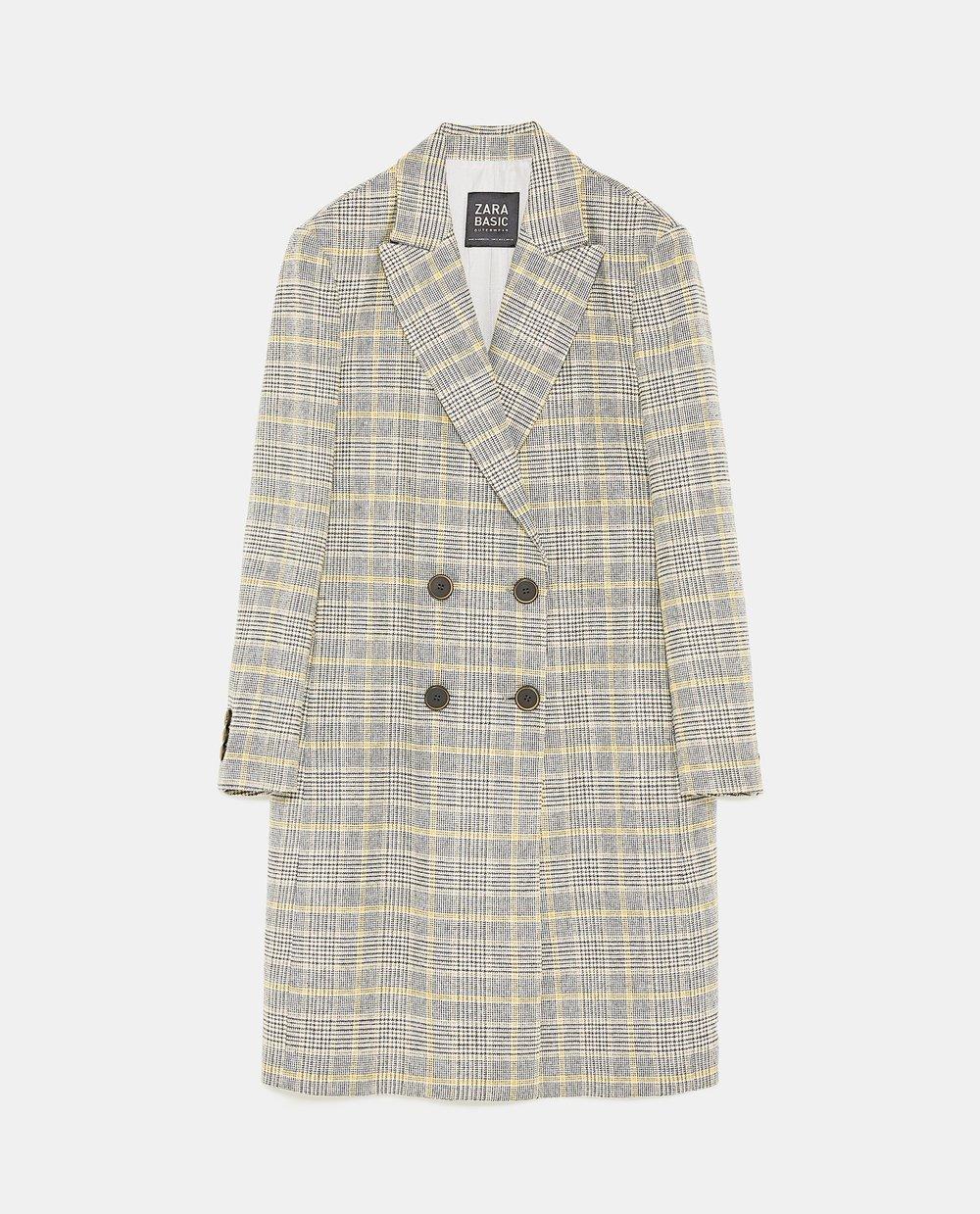 Coat, £89.99, Zara