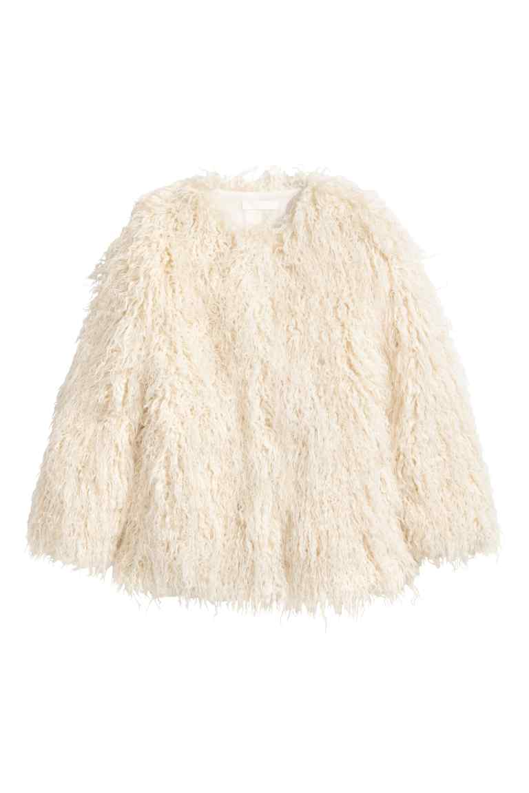 Faux fur jacket, £39.99, H&M
