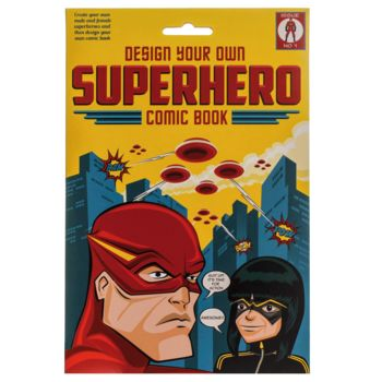 Design Your Own Superhero Comic Book, £10, Not On The High Street