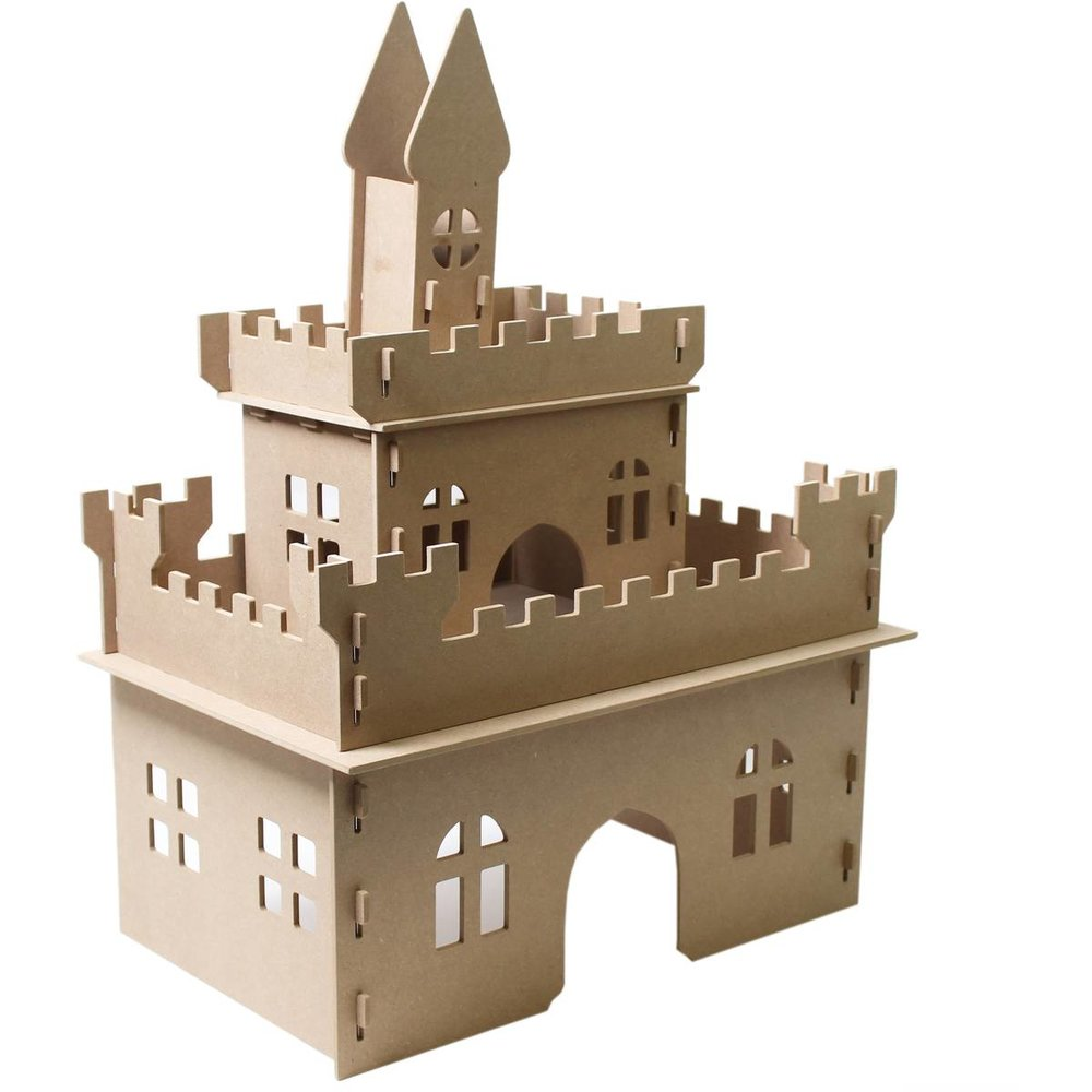 Decorate Your Own Wooden Castle 49cm x 32cm x 63cm, £20, Hobbycraft