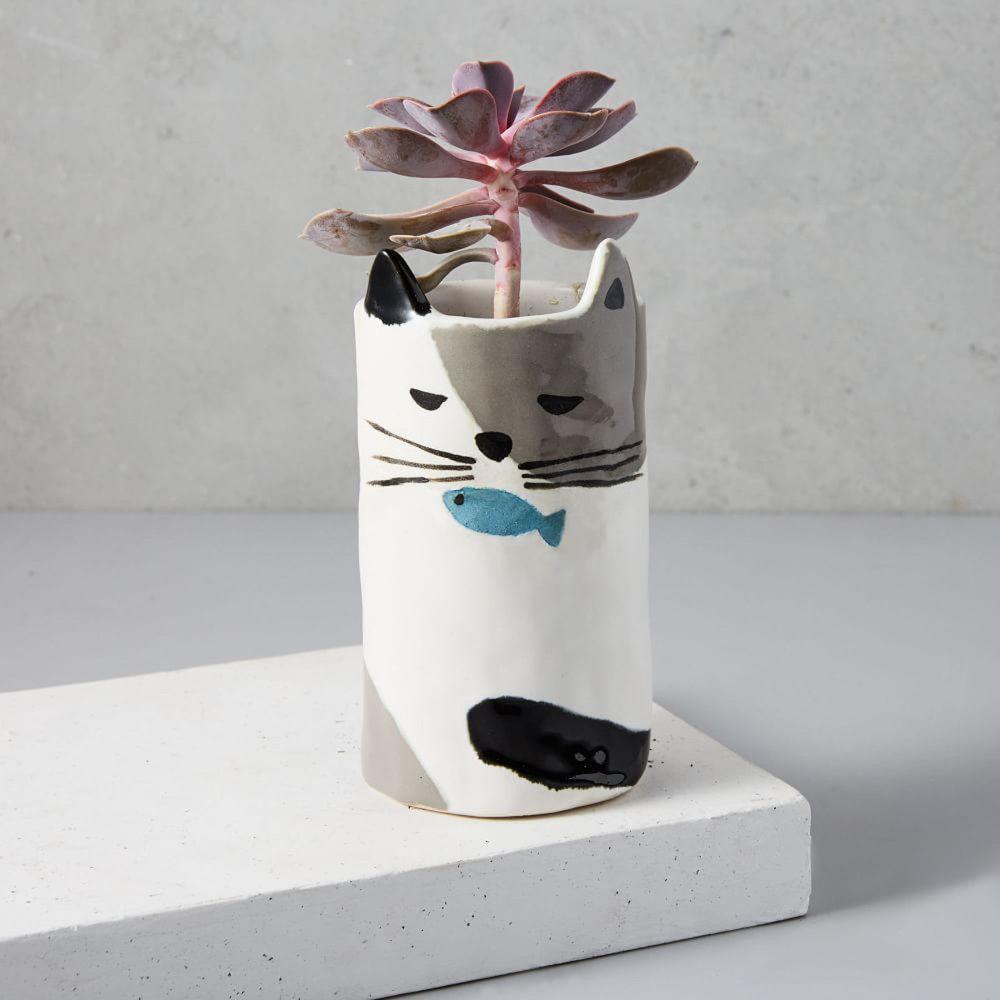 Ceramic Cat Planter, £16, West Elm
