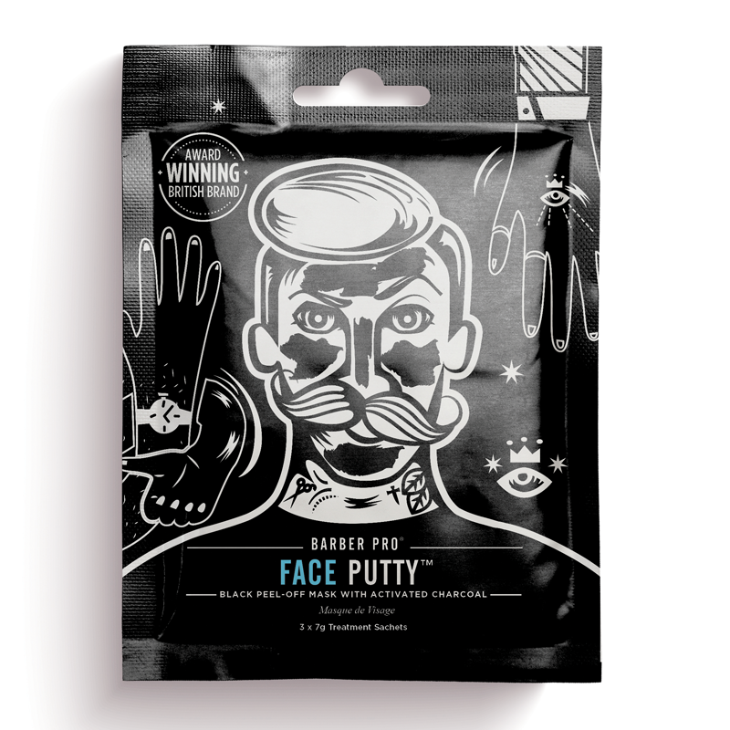 Barber Pro Face Putty Black Peel-Off Mask 3 x 7g, £4.95, Feelunique
