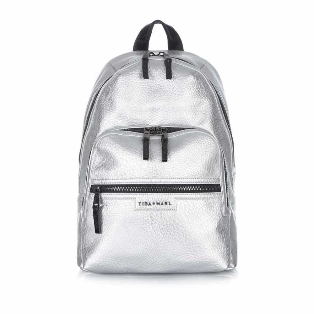 Tiba + Marl Elwood Backpack in Silver - £130 Natural baby Shower