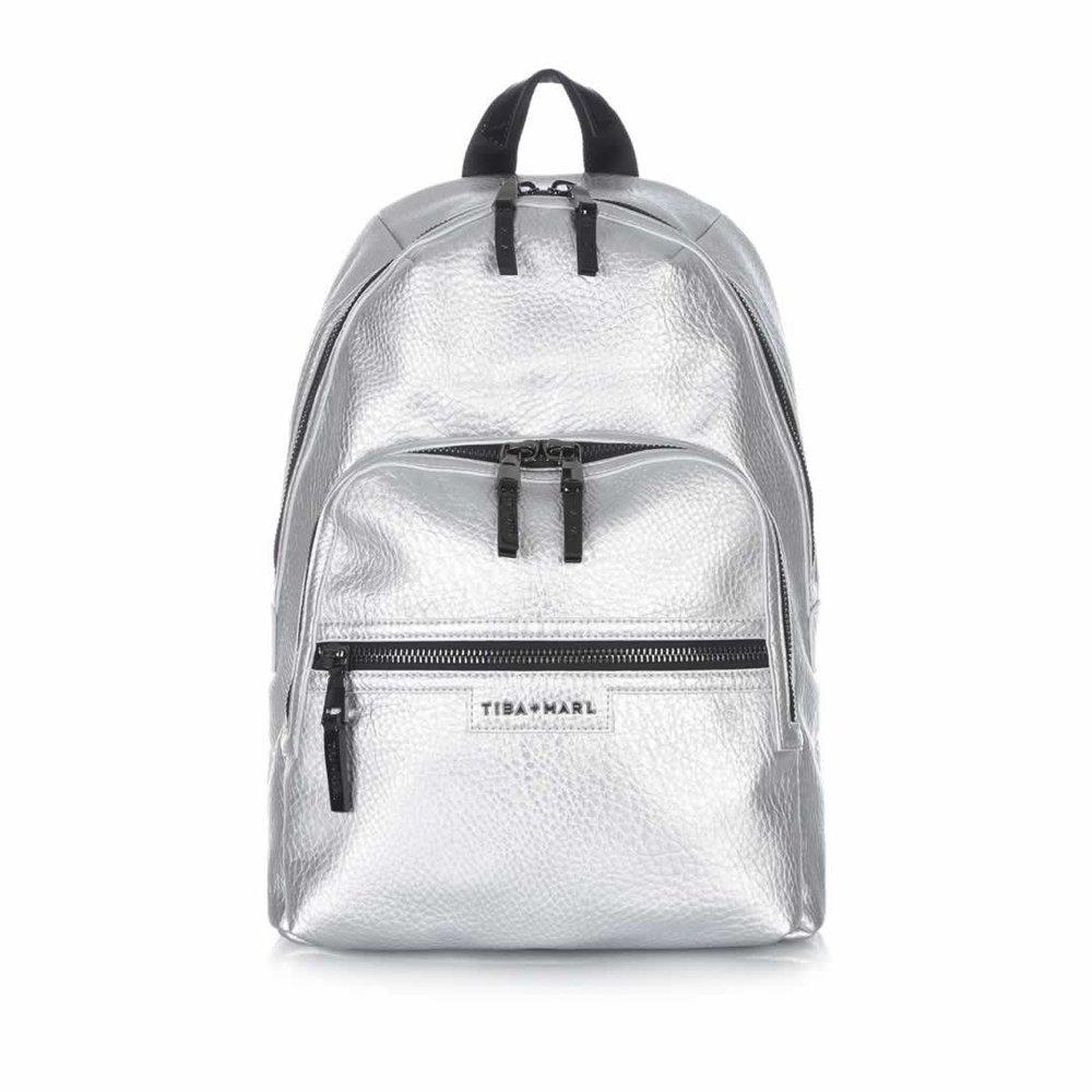 Tiba + Marl Elwood Backpack in Silver - £130 Natural baby Shower