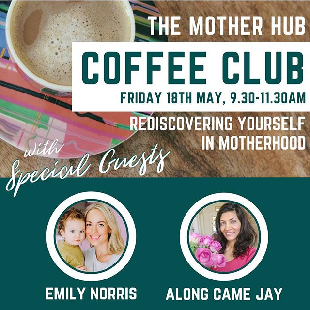As promised, here's an update on the next Coffee Club! We are so excited about this one... On Friday 18th May, we'll be getting together again in Brentwood for coffee, cake and a chat about 'Rediscovering Yourself in Motherhood' with two very special guests... 🌟 YouTuber extraordinaire and mum of three @mrsemilynorris will be joining us again 😊 If you watch Emily's YouTube videos, you'll already know how lovely she is 💞 If you don't, where have you been?! 😜 Sadly Kerry Whelpdale can no longer make it for this one, but we're extremely fortunate and excited to welcome fellow @channelmum blogger and blogger @alongcamejay (aka Bella) onto our mini panel 😄 Bella became a mum to her son Jay four years ago after a long struggle with infertility. Formerly an EA at a corporate bank, Bella now blogs and vlogs about parenting and lifestyle, and works closely with baby loss charity Tommy's to raise awareness of miscarriage 💫 ☕️ We cannot wait to see everyone on the 18th and chat to these inspirational women! Who's coming? Get your tickets soon because this one will sell fast!!! (Link in our bio) And bring a friend, tag them below 👇🏼 #themotherhub #themotherhubcoffeeclub #emilynorris #alongcamejay