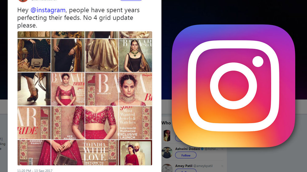 Will Instagram introduce a new 4-photo per row grid along with its new algorithm?