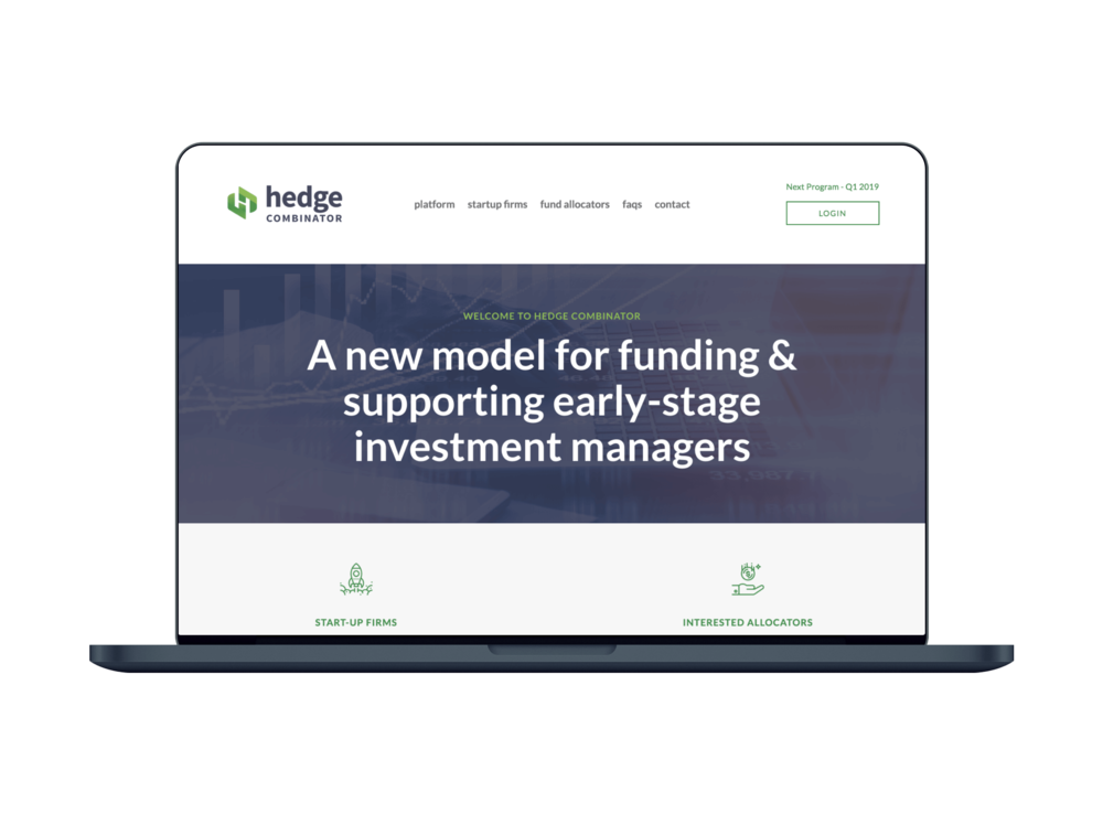 HedgeCombinator - Founded by a seasoned Wall Street hedge fund manager, HedgeCombinator needed a serious-yet-cutting-edge site to help them raise funds as they work to become the first incubator for hedge funds.